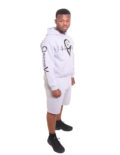 GREY HOODIES SHORT SUIT